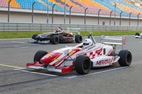 racing car on the start line