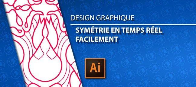 la symétrie en temps réel sous Illustrator
