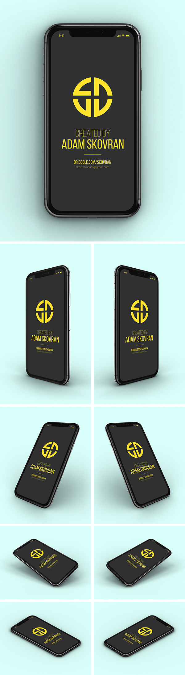 9 mock up d'iphone