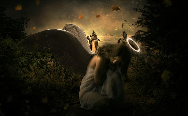 Photomontage tutoriel ange