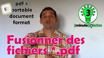 """Fusion de fichiers pdf sur """"3 minute Solution"""": utiliser le logiciel gratuit pdf binder"""