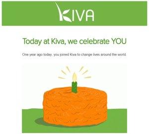 1 an de Kiva !