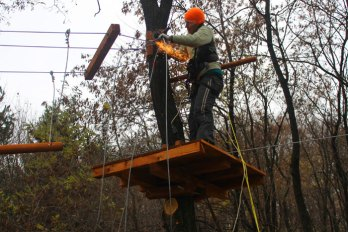 2012 Cristina en action - construire pour d'autres clients Roumanie Negresti