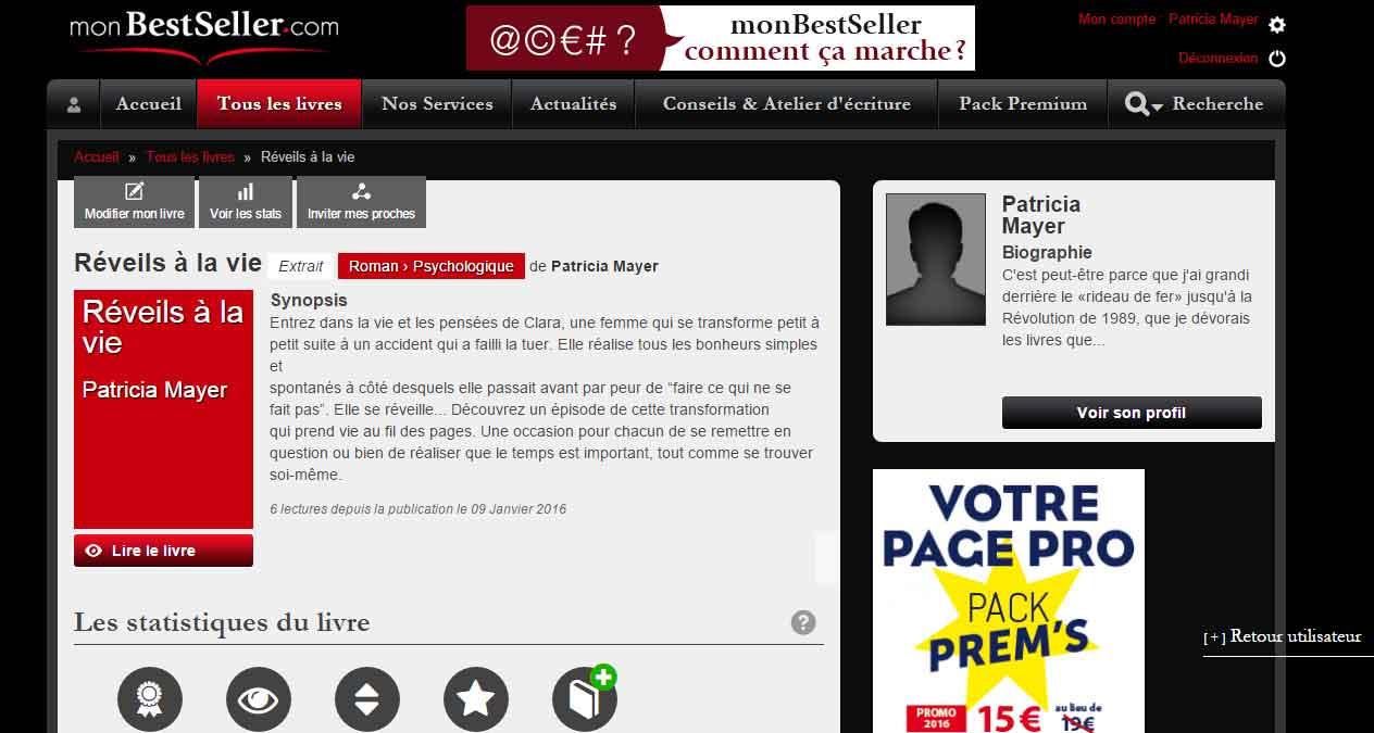Réveils à la vie - Patricia Mayer - MyBestSeller.com - OlivierRebiere.com