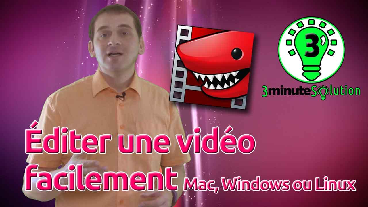 3 minute Solution - éditer une vidéo facilement sous Mac, Windows ou Linux avec Lightworks - OlivierRebiere.com