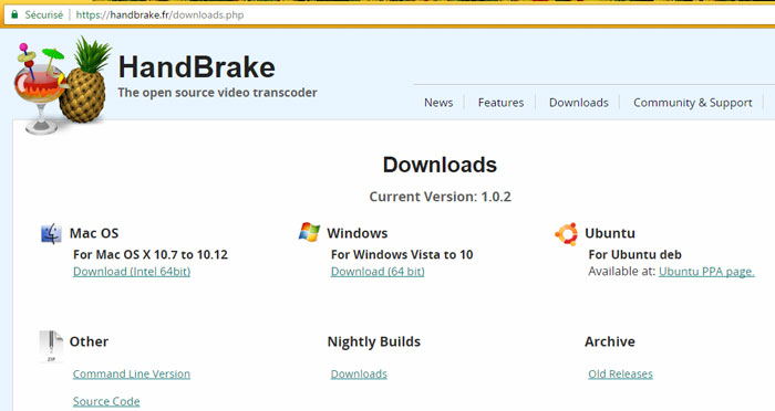 handbrake versions télécharger - optimiser vidéo facilement Mac, Windows, Linux - OlivierRebiere.com