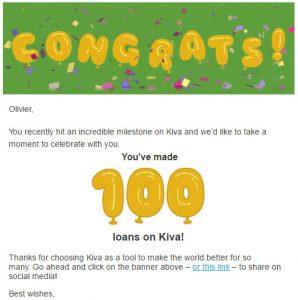 Kiva100 - altruisme - OlivierRebiere.com