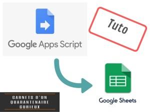 Google App script appliqué à Google Sheet – Les bases