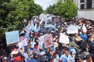 Movilización CODECA. Febrero 2016. Guatemala. OI