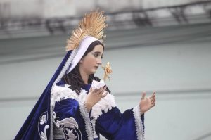 Virgen María. Procesión Semana Santa. Guatemala