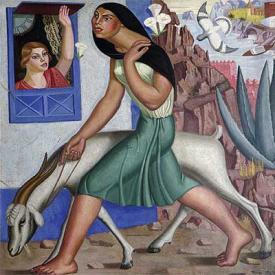 Muller con cabra, Maruxa Mallo