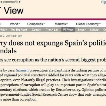 """O 'Financial Times' espétalle a Rajoy que """"pedir perdón non borra os escándalos políticos de España"""""""
