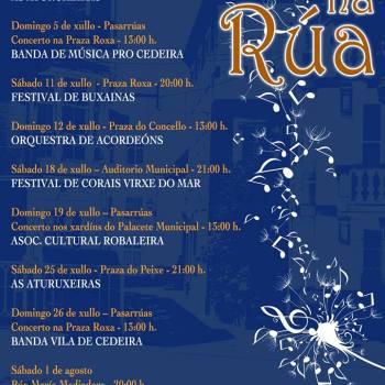 """Ciclo de """"Música na rúa"""", eixo cultural do novo goberno de Cedeira para o mes de xullo"""