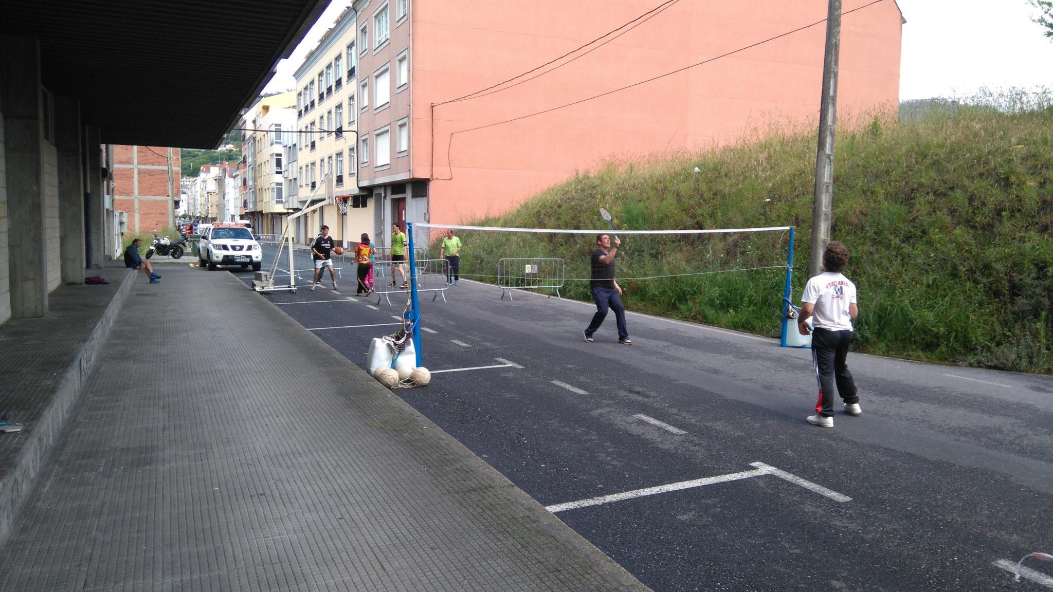 A ameaza de chuva non impediu o desenvolvemento da festa do deporte na rúa