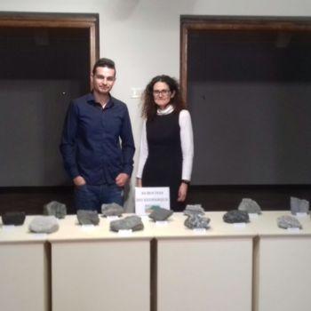 O xeólogo Fran Canosa e a Concelleira de Cultura de Cedeira María Xosé Rodríguez