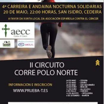 4a Carreira e Andaina nocturna solidarias a beneficio da AECC Cedeira contra o cancro