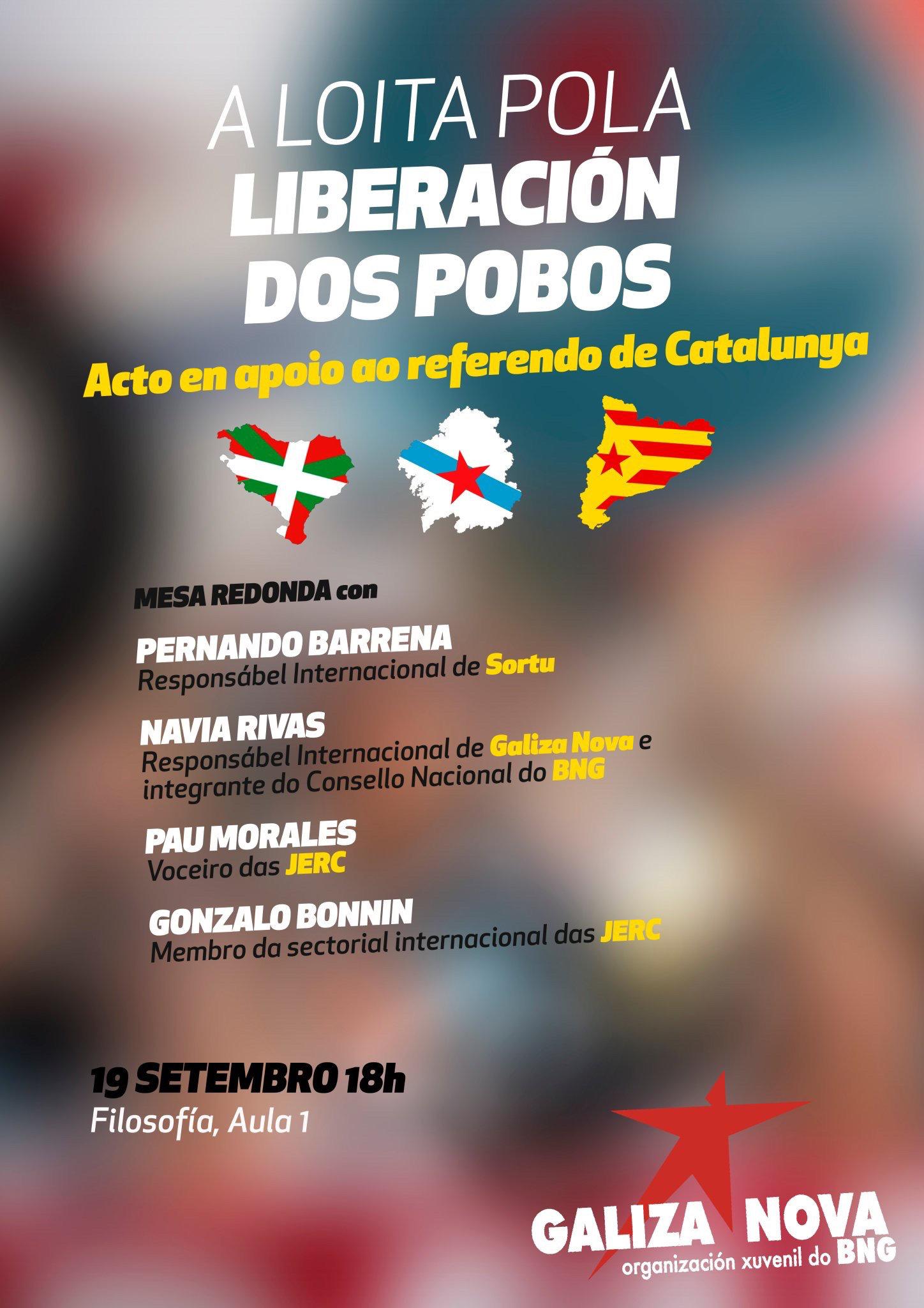 Acto en apoio ao referendo de Catalunya