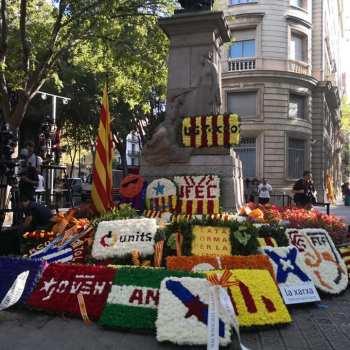 Diada, malia todo.Concentración solidaria en Vigo convocada pola Plataforma Galiza con Catalunya