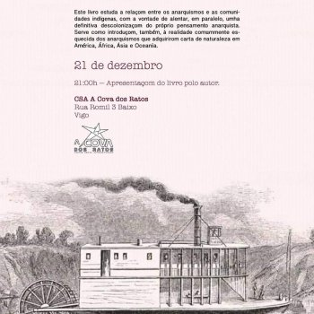 Anarquistas de ultramar,  Carlos Taibo lanza o seu último libro na Galiza