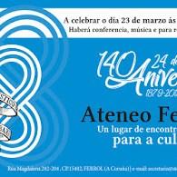 Celebración do 140 aniversario do Ateneo na cidade de Ferrol