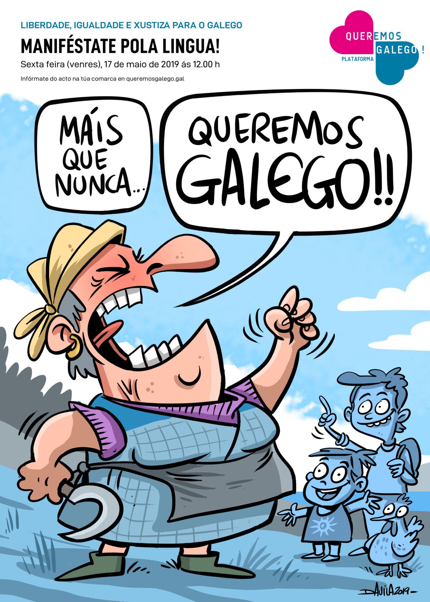 """Queremos Galego sae á rúa nas principais cidades e vilas do país para esixir """"liberdade, igualdade e xustiza para o galego"""""""