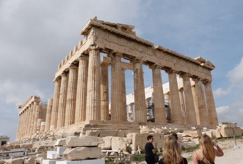 A mudanza climática está ameazando os antigos monumentos gregos, entre eles a Acrópole