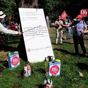 CIG, CCOO, STEG e CSIF firmam calendário de mobilizações com dous dias de greve no setor educação