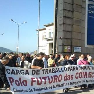 3000 traballadores do naval e funcionarios en Ferrol
