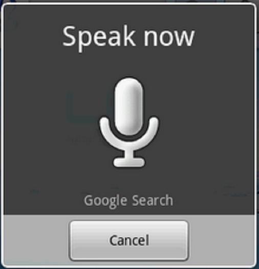 Google Voice Search en galego