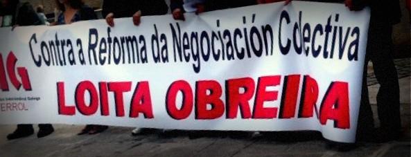 A CIG, CCOO e UGT convocan protestas