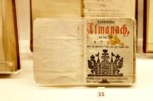 18th-century almanac
