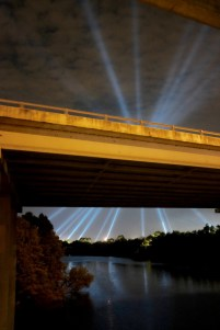 Lights over Zilker Park