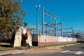 Former power plant, now bike path