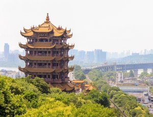Chinese building on a hill