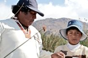 41 uros islands father & son