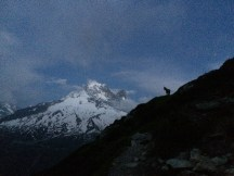 Trail du Mont Blanc night