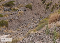 The railroad is blocked by the landslides.