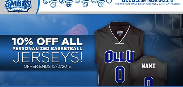 promo code a851a e7a0b Get your personalized basketball jersey on OLLU Saints Gear ...