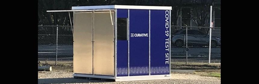 Curative testing kiosk