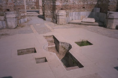 This font is from St John's in Ephesus built at the same time as St Mary's