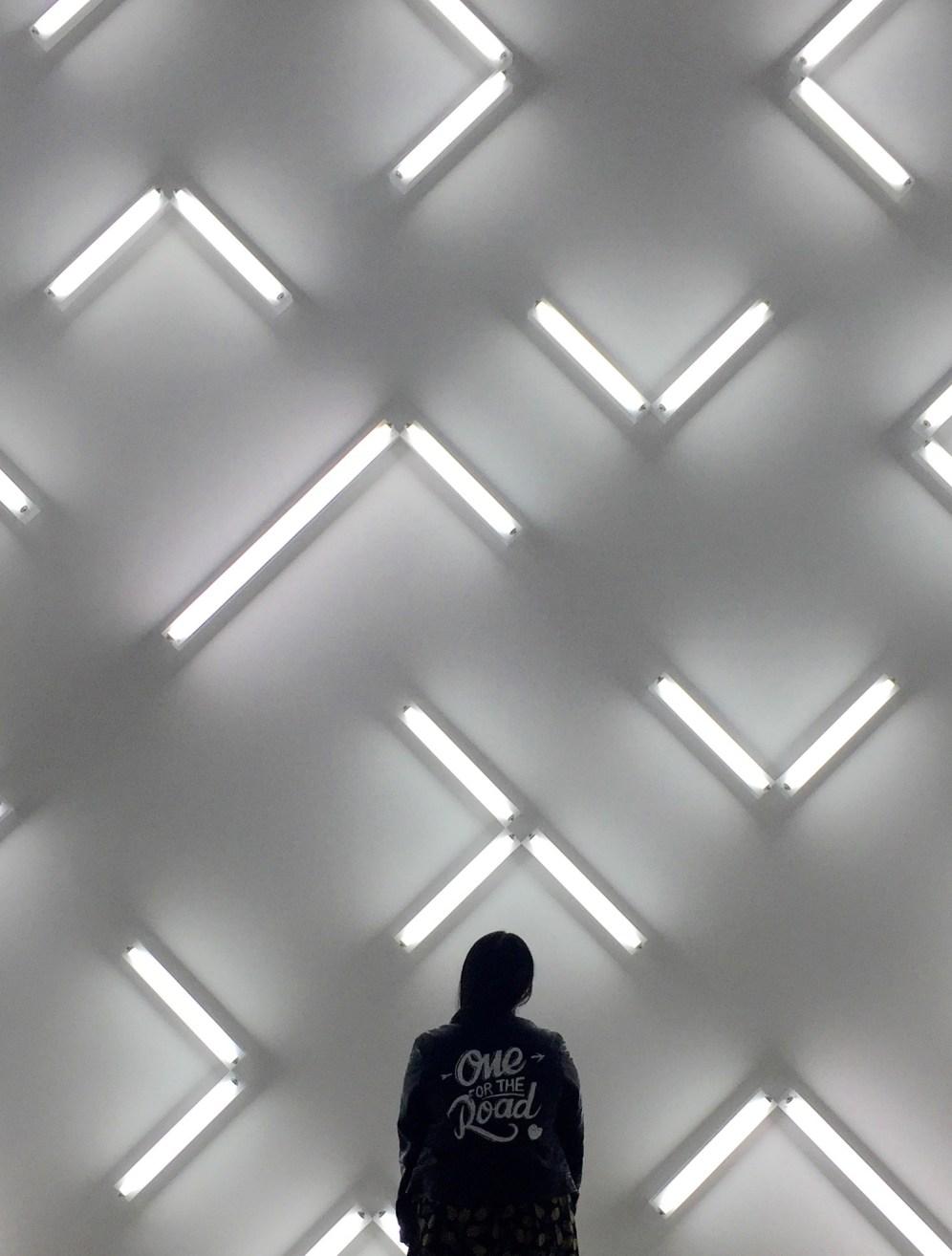 with the Robert Irwin's Light & Space exhibit @ MCASD