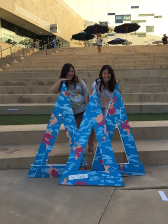 Me and my silver sister Patricia on bid day :)