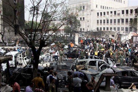 εκρηξη Δαμασκος