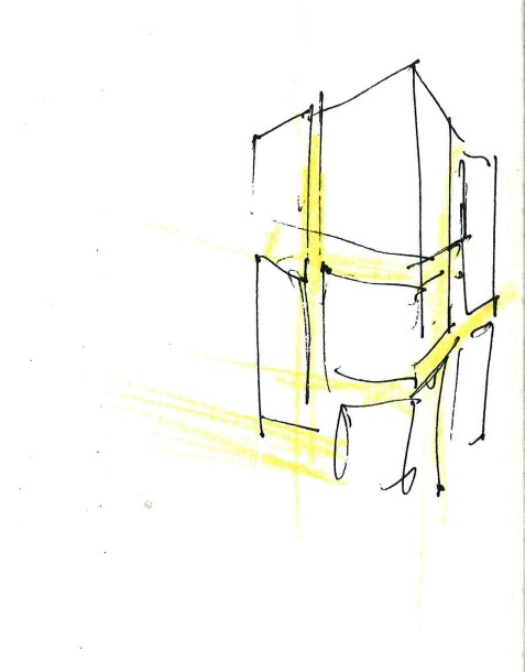 sketch for a mixed use tower in Stockholm_HLA-competition
