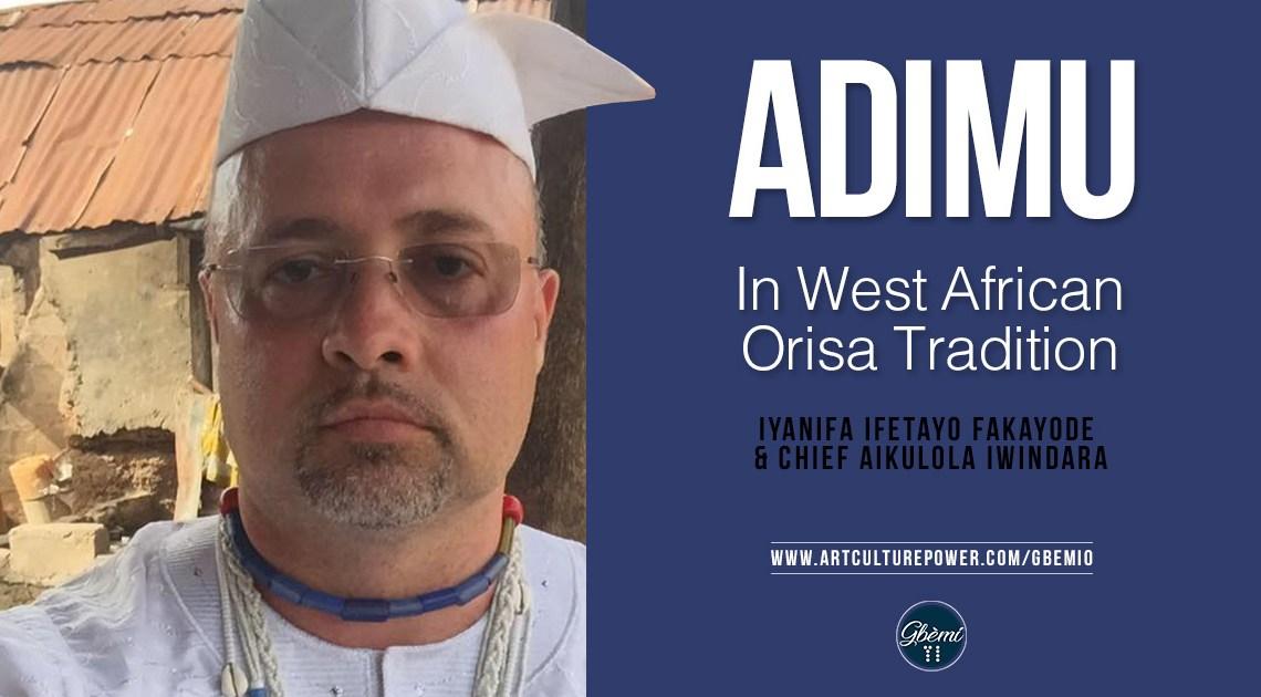 Adimu In West African Òrìsà Tradition