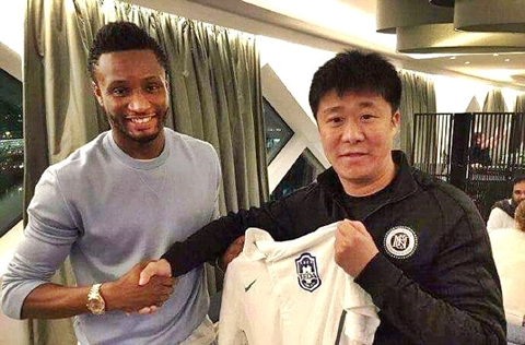 Mikel Obi completes transfer move to Chinese side
