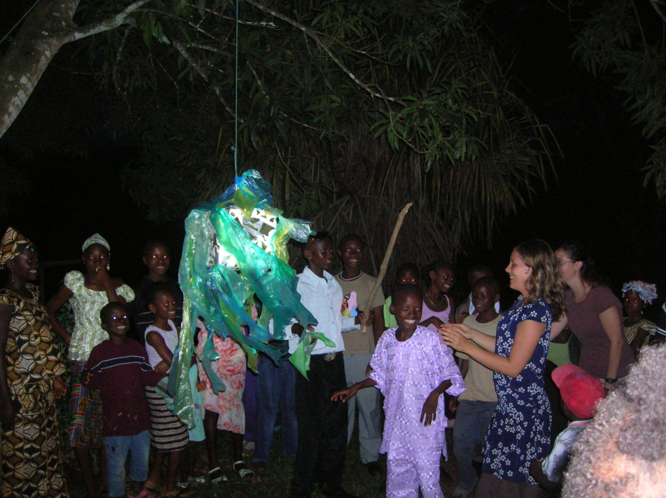 Pinata at the Pastoral Center birthday party, pre-riots