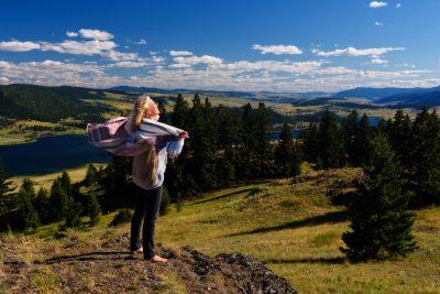 Meditation business outdoor photo shoot in Nicola Valley
