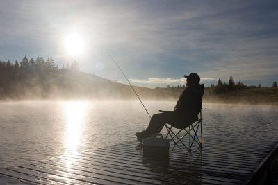 Fishing at Edith Lake in Kamloops
