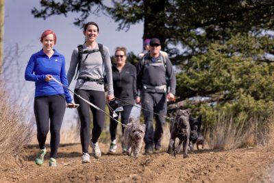 Walkers at Kenna Cartwright Park in Kamloops